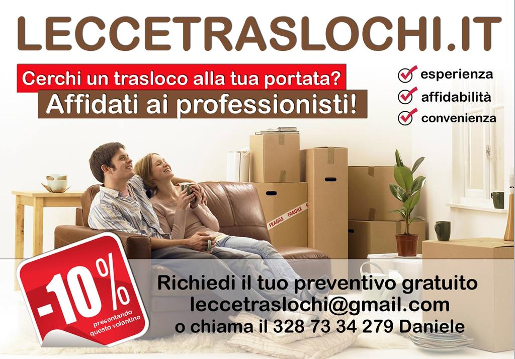 Traslochi Lecce Prezzi