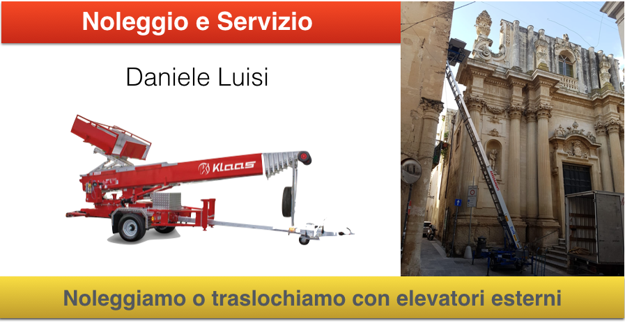Noleggio scale aeree per traslochi mobili a lecce e for Mobili frosinone e provincia