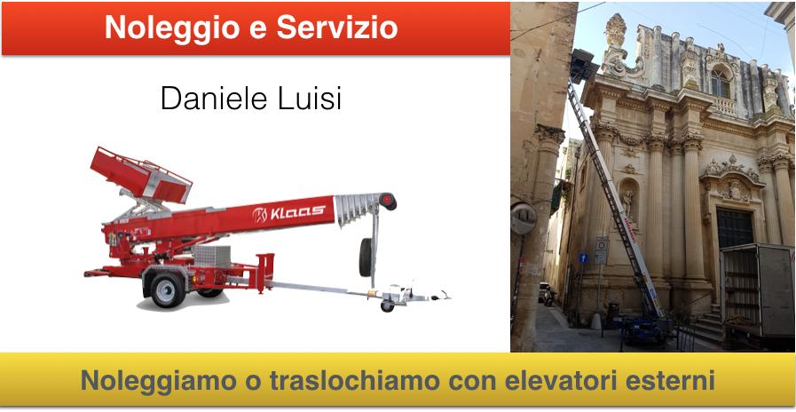 Noleggio Scale aeree per traslochi mobili a Lecce e provincia prezzi